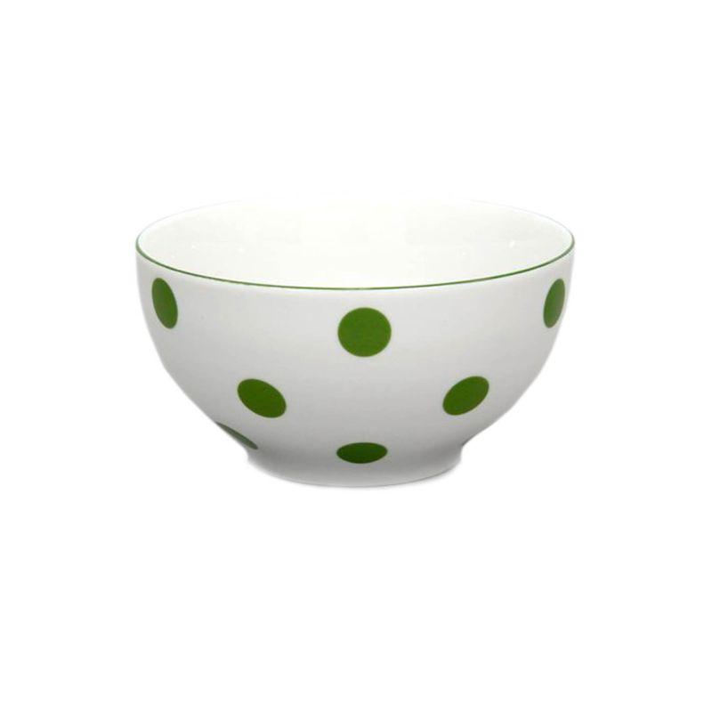 miska d14,5cm polév.zelený puntík-1.jak.THUN,porcel.
