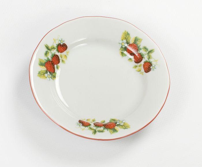 talíř dezert d13cm JAHODY, prapor., čes.porcelán
