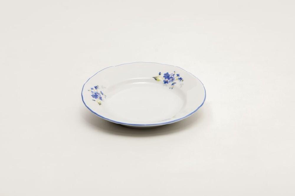talíř dezert d13cm POMNĚNKY, prapor., čes.porcelán