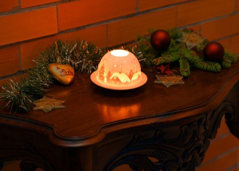 dekorace-Vesnička-na svíčku, porcelán