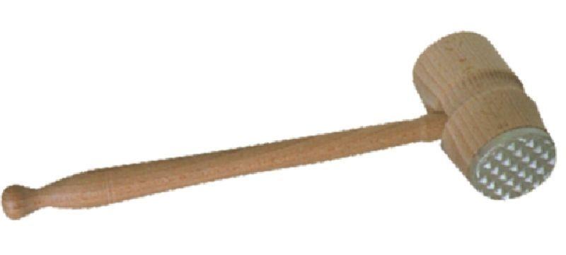 palička na maso, dřevo/kov