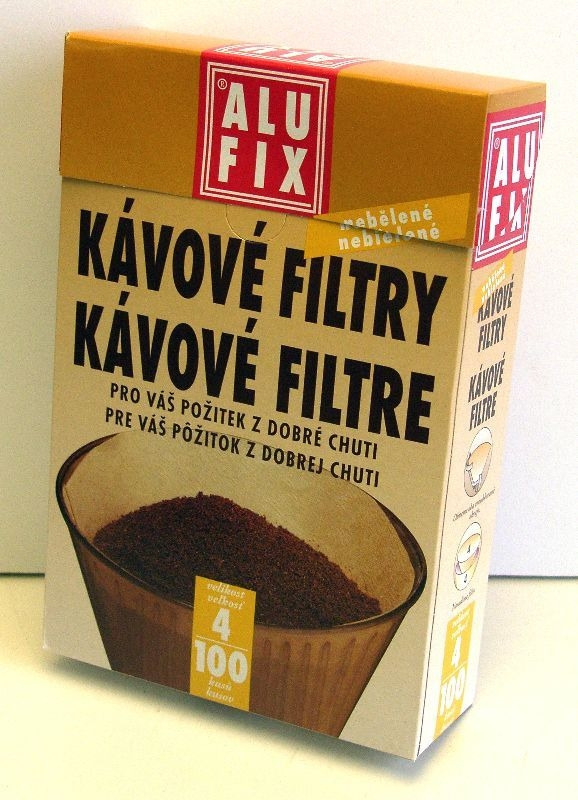 filtry 4/100ks na kávu, papír