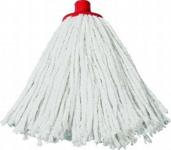 koncovka mopu červená, provázek bavlna