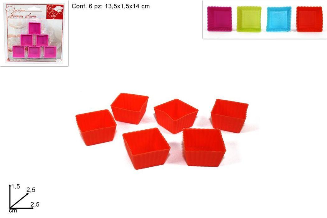 formička 6ks čtverec 2,5x2,5x1.5 silikon
