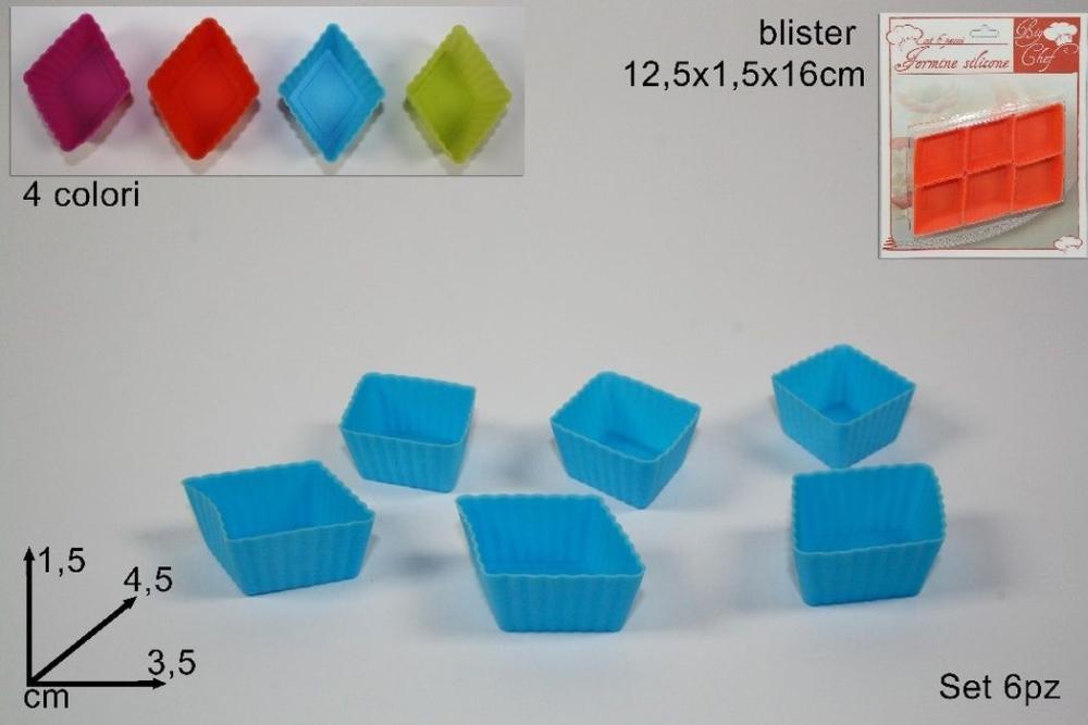 formička 6ks kosočtverec 4,5x3,5x1,5 silikon