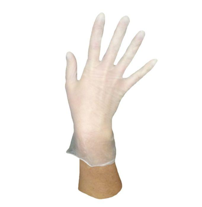 rukavice 100ks VINYL -M-bez pudru, jednoráz.