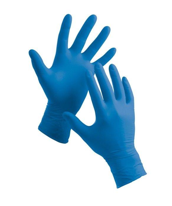 rukavice 100ks jednoráz.-M-DELIGHT BLUE PF,vinyl