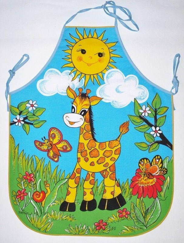 zástěra Žirafa K110 dětská 64x50cm