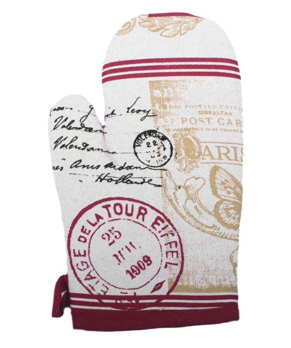 chňapka 26cm COTTON, bordó, bavlna