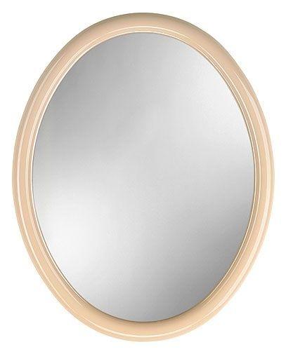 zrcadlo 50x40cm elipsa, BERTÍK, béžové