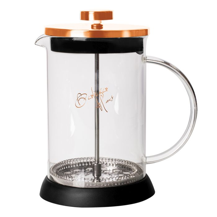 konvice 0,60l ROSE GOLD COL., COFFEE MAKER, sklo+plast
