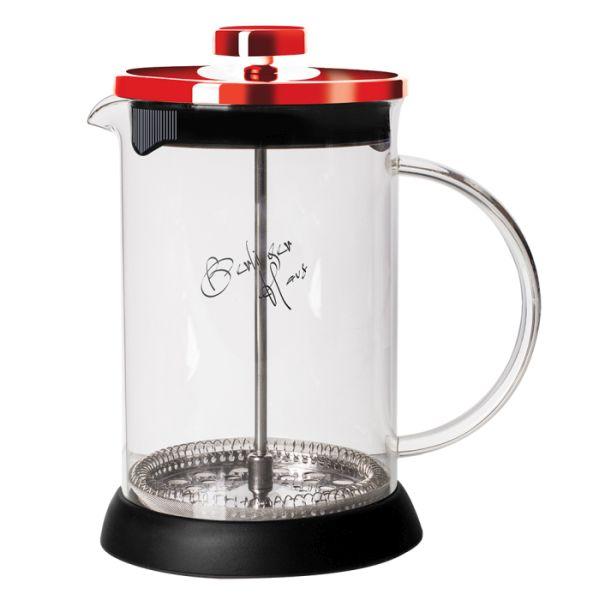 konvice 0,60l BURGUNDY MET.LINE, COFFEE MAKER, sklo+plast