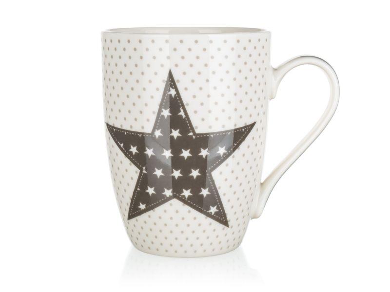 hrnek 340ml STAR bílý, keramika