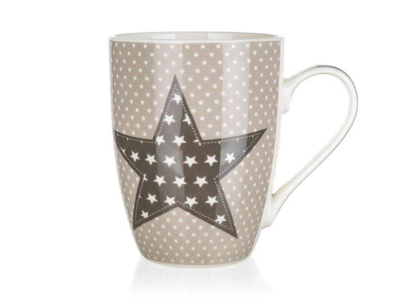 hrnek 340ml STAR béžový, keramika