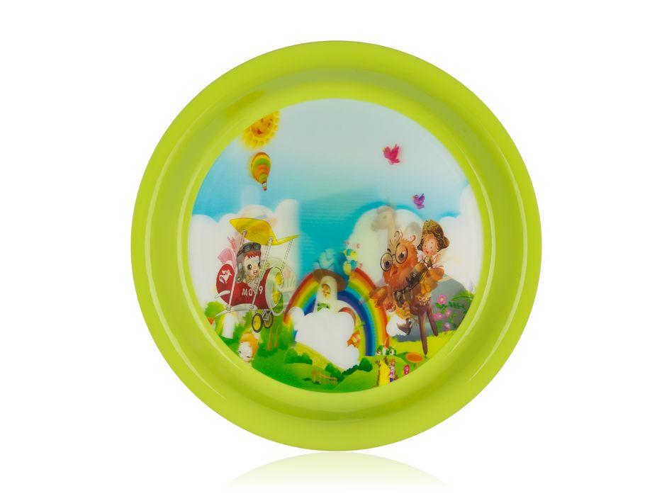 talíř d19cm PLANE, dětský, plast