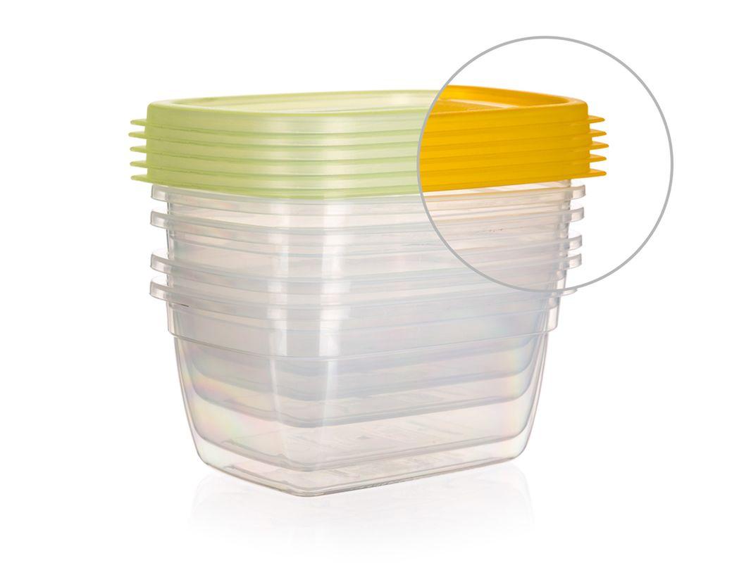 box-sada 5ks, 0,55l AMIENS, 14x10x7cm, plast