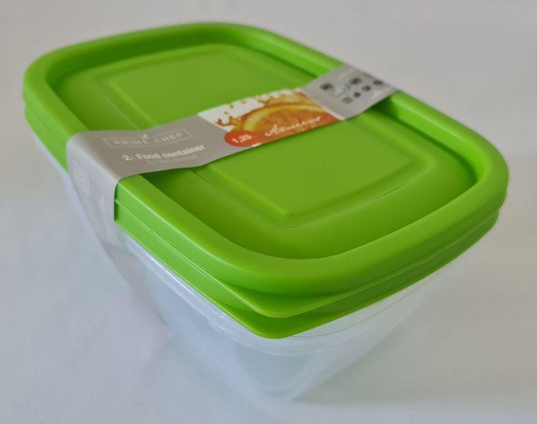 box-sada 2ks, 1,25l HAPPY COL., zelená, plast