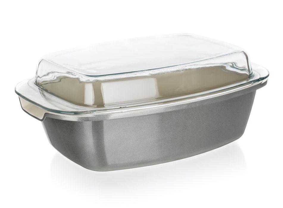 pekáč+PO 32,5x21x11cm 5,6l ALEGRIA šedý,ker.pov.
