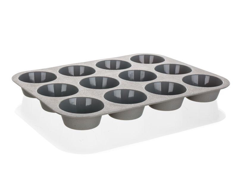 forma muffiny 12ks, ALEGRIA, 33x25, šedá, silikon
