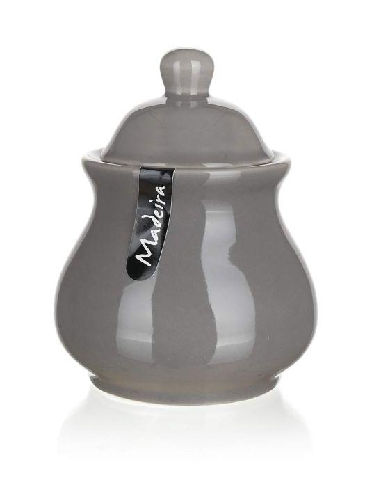 cukřenka 280ml, MADEIRA šedá, keramika