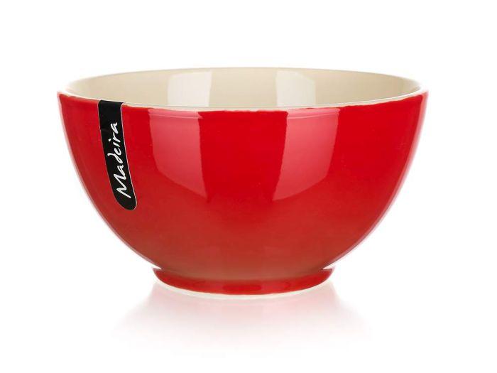 miska d14,5cm ker. MADEIRA červená/natural