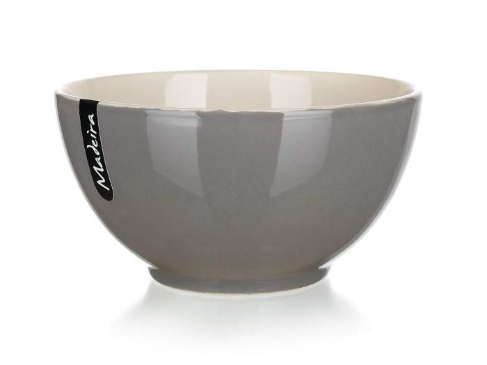 miska d14,5cm ker. MADEIRA šedá/natural
