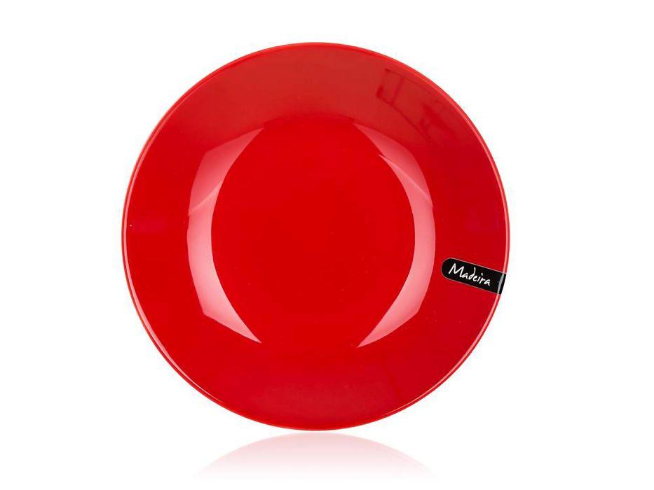talíř d21cm hluboký, MADEIRA červený, keram.