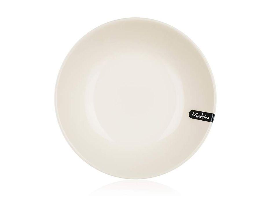 talíř d21cm hluboký, MADEIRA natural, keram.