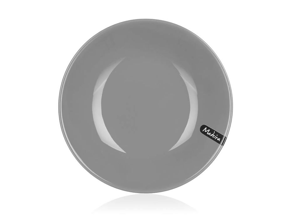talíř d21cm hluboký, MADEIRA šedý, keram.