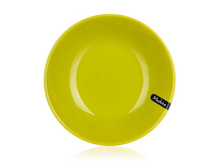 talíř d21cm hluboký MADEIRA zelený, keram.