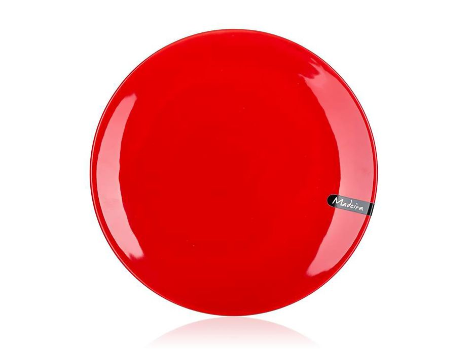 talíř d26,5cm mělký, MADEIRA červený, keram.
