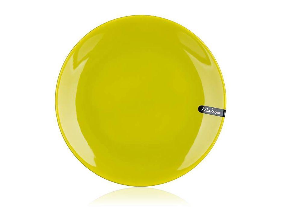 talíř d26,5cm mělký, MADEIRA zelený, keram.