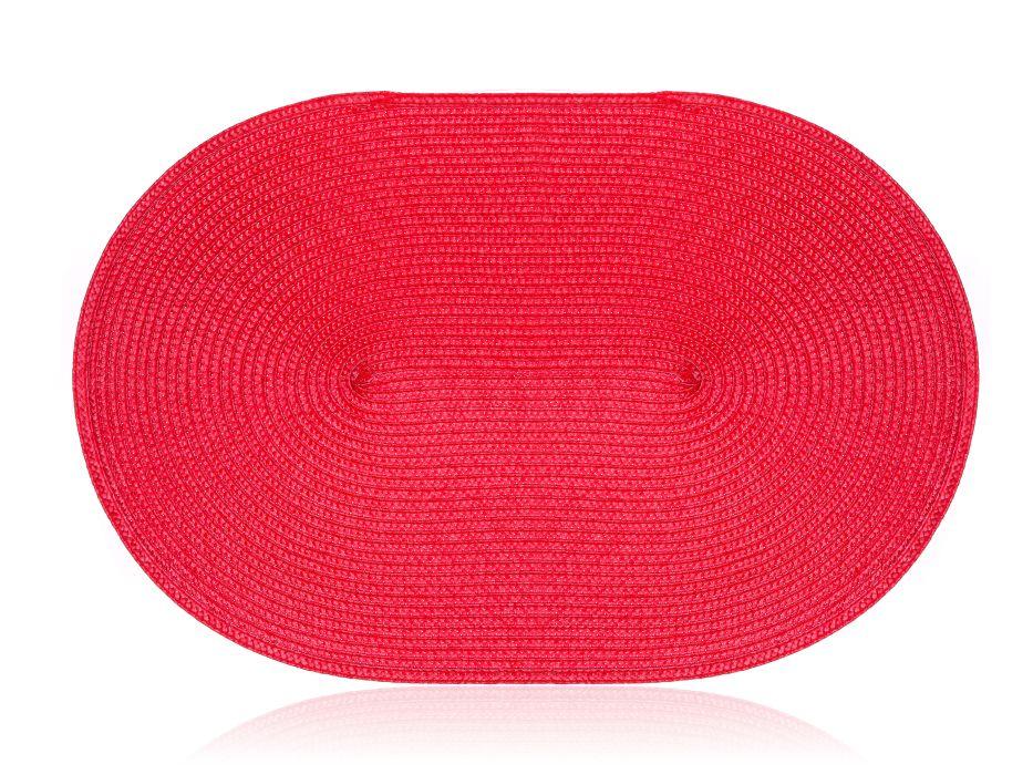 prostírání 45x30cm ovál MADEIRA červené