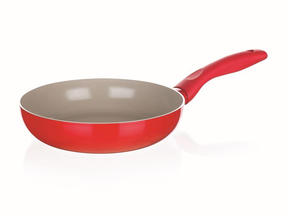 pánev d20x4,5cm MADEIRA červená,ker.pov.,indukce