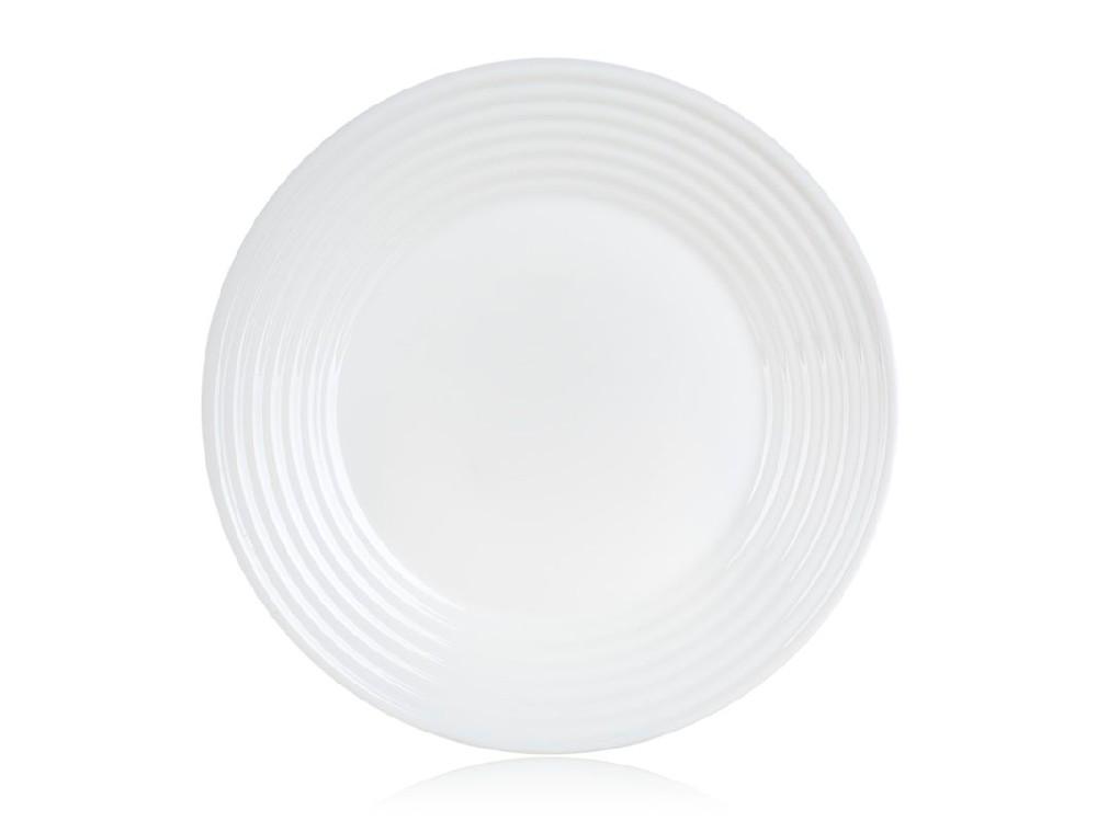 talíř d25cm mělký, HARENA, tvrz.sklo