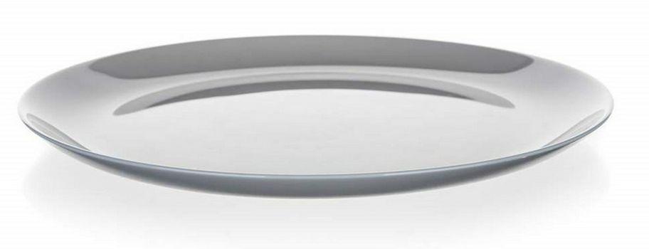 talíř d25cm mělký, DIWALI, šedý, tvrz.sklo