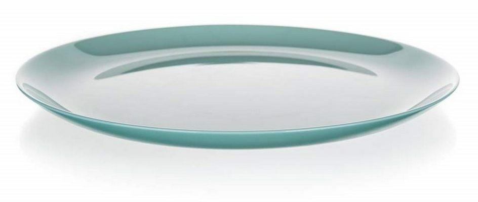 talíř d25cm mělký, DIWALI, tyrkys, tvrz.sklo