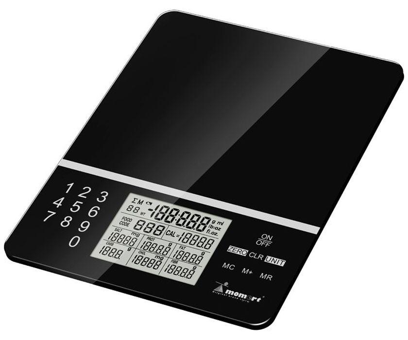 váha  5kg kuch.dig., NUTRIČNÍ 6846, st.1g, černá, sklo
