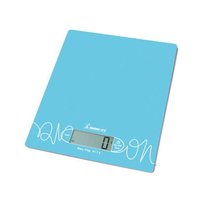 váha  5kg kuch.dig.6854-modrá, sklo