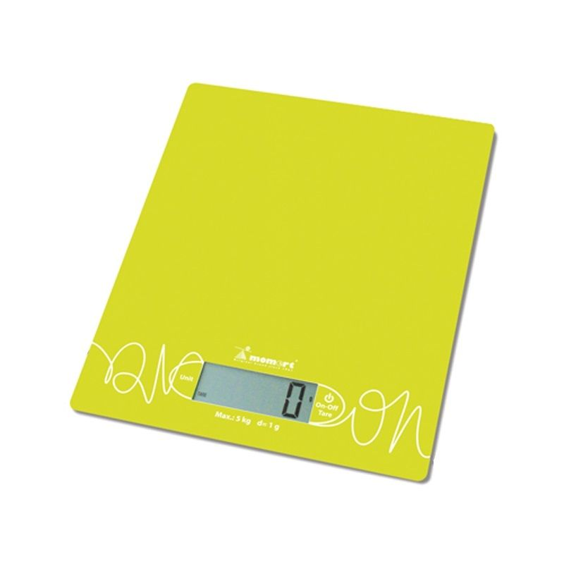 váha  5kg kuch.dig., 6855-zelená, sklo