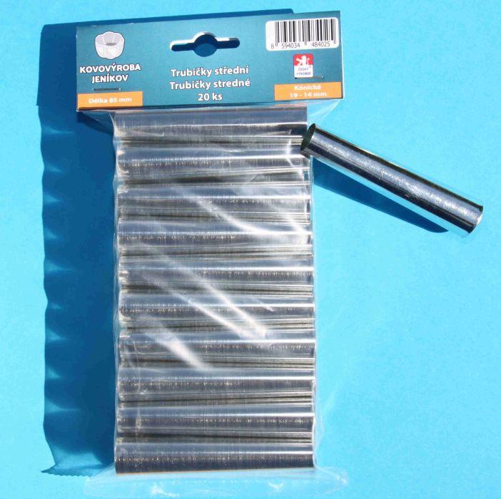 trubičky  85mm-20ks-kužel.střední 19-14mm,sáček