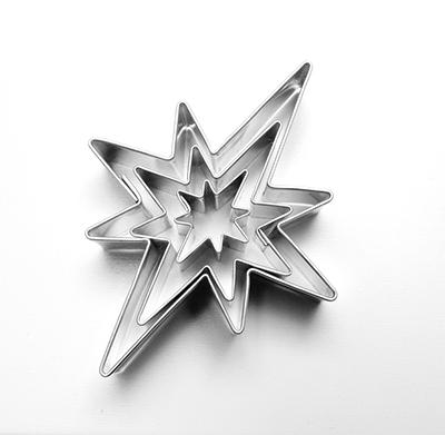 vykr.746-sada hvězdy 8 cípů 3ks