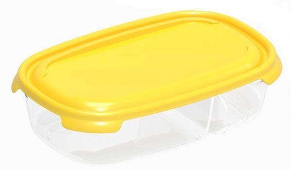box  0,25l+0,5l PRIMO, 20,5x16,5x 6cm, dělený, plast