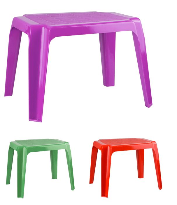 stůl 41x52x40cm, dětský, bílý, tm.zelený, krém, plast