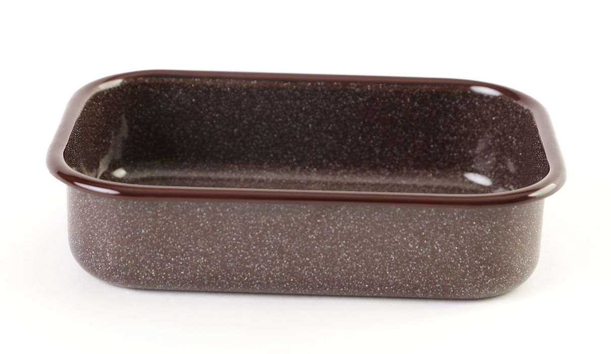 pekáč 17,5cm bez uch, OLYMP - hnědý granit, 0,8l
