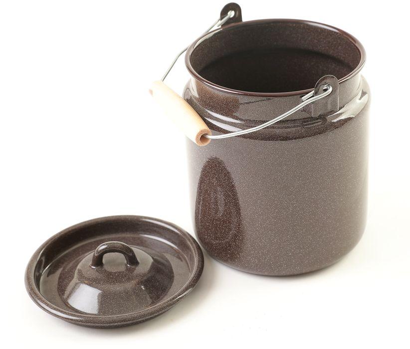 konev 3,5l na mléko OLYMP-hnědý granit, smalt