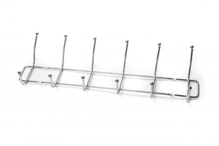 věšák 6-háčků drát,tenký,šroubovací, chrom