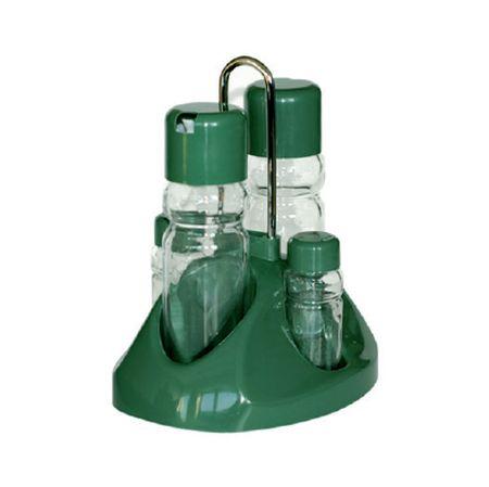 slánka+pepřenka, 4-dílná, stojánek,sklo+plast