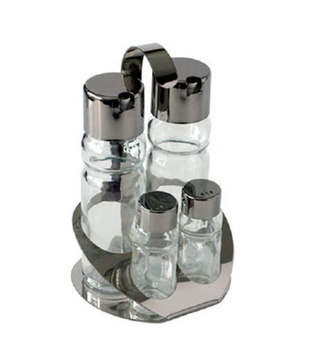 slánka+pepřenka, 4-dílná, stojánek,sklo+NR