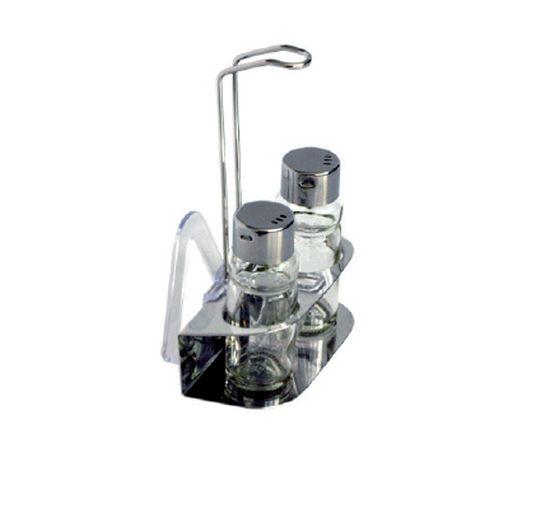 slánka+pepřenka, 4-dílná, stojánek, drát.r., sklo+NR